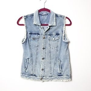 MNY Performance | Soft Denim Raw Seam Vest S